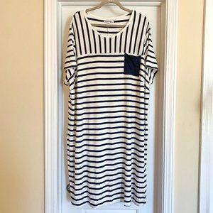 Simply Be Size 26 Stripped T-Shirt Dress
